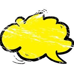 Grunge cartoon cloud speech bubble vector