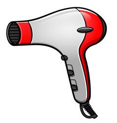 Hair dryer cartoon isolated vector