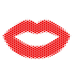 halftone dot sexy lips icon vector image