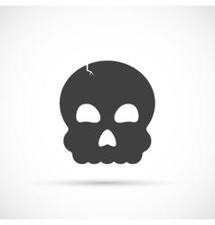 Halloween skull icon vector