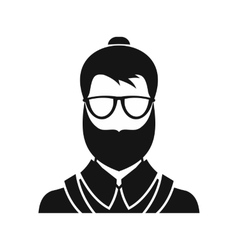 Hipsster man icon simple style vector image