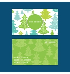 holiday christmas trees vertical round vector image