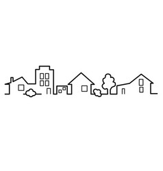 houses one line vector image