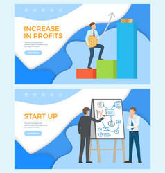 increase in profits financial stability success vector image