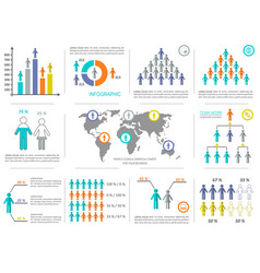 infographic design elements demographic vector image