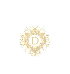 initial d wedding boutique logo designs vector image