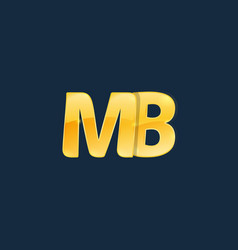 Initial letters mb m b with logo design vector