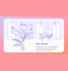 interior cozy office business company vector image