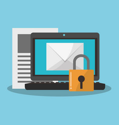 internet security related icons image vector image