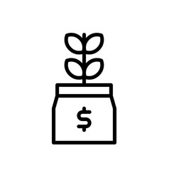Investment money growth icon vector