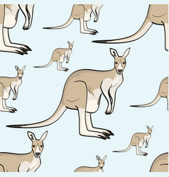 Kangaroo animal is a canada seamless pattern vector