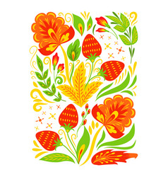 khokhloma pattern design traditional russia vector image
