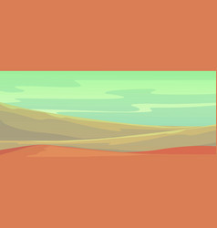 landscape with mountains in deserted area on vector image