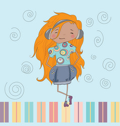 Little Girl MUSIC vector image