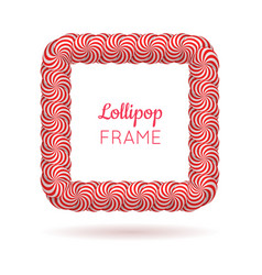 Lollipop red square frame vector