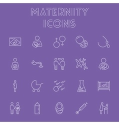 Maternity icon set vector image