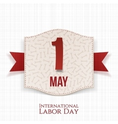 May 1st International Labor Day paper Banner vector