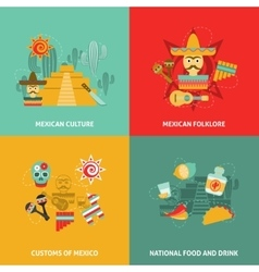 Mexican Icons Set vector