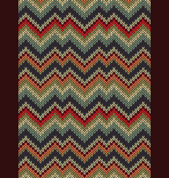 multicolor seamless knit pattern vector image
