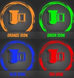 Negative films icon symbol Fashionable modern vector