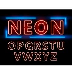 Neon font set vector