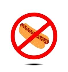 no hot dog vector image