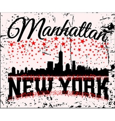 NYC t-shirt skyline vector image