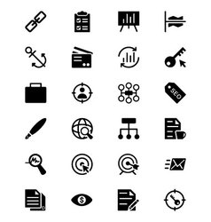 Online Marketing Icons 4 vector