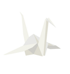 origami white paper crane on vector image
