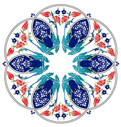 Ottoman motifs design series ninety one colored vector image