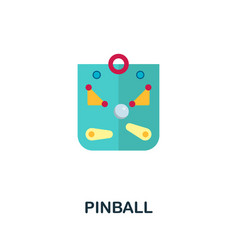Pinball icon flat sign element from table games vector