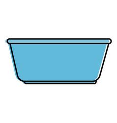 Plastic laundry container icon vector