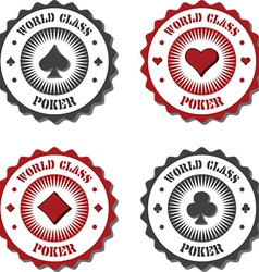 Poker and card game icons vector image