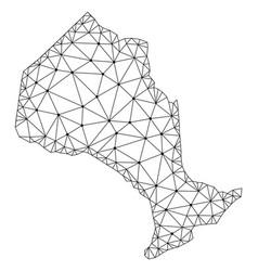 Polygonal carcass mesh map of ontario vector