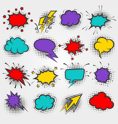 Pop art comic speach bubbles vector