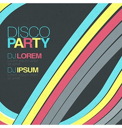 retro disco background vector image
