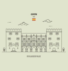 revillagigedo palace in gijon spain vector image