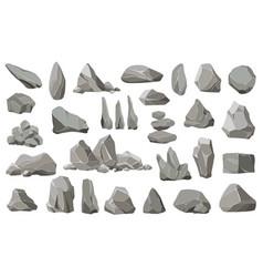 rock stones and debris mountain gravel vector image
