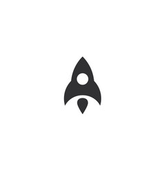 rocket flying up icon black ship launch vector image