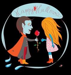 Romantic halloween vector