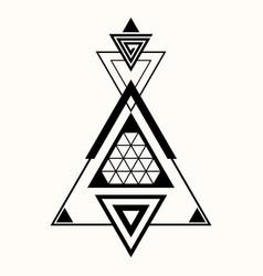 sacred geometry 0135 vector image
