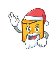 santa rigatoni mascot cartoon style vector image