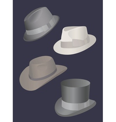 Set of mens hats vector