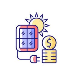 solar energy price rgb color icon vector image