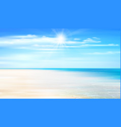 summer background with ocean coastline blue sky vector image