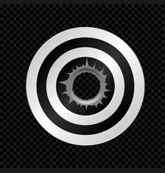 target with bullet hole vector image