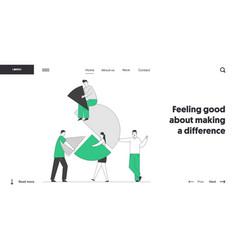 team partnership teamwork cooperation website vector image