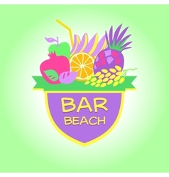Template logo Beach bar party vector image