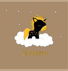 unicorn and magic vector image