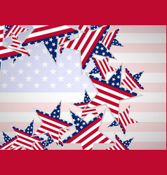 usa flag in star shape vector image